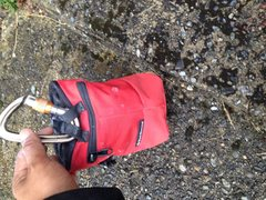 Rock Climbing Photo: Hoody stuffed in bag pocket