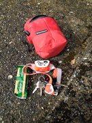 Rock Climbing Photo: petzl rxp, leatherman/keys, granola bar all fits