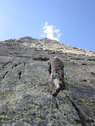 Rock Climbing Photo: Start of 2nd pitch after the right-facing dihedral...