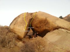 Rock Climbing Photo: Topo for Circle Crack Arête and Circle Crack