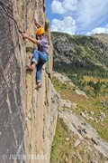 Rock Climbing Photo: Dave Clark-Barol enjoys a perfect September day.