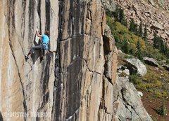Rock Climbing Photo: Chris Barlow at the start of the real hard climbin...