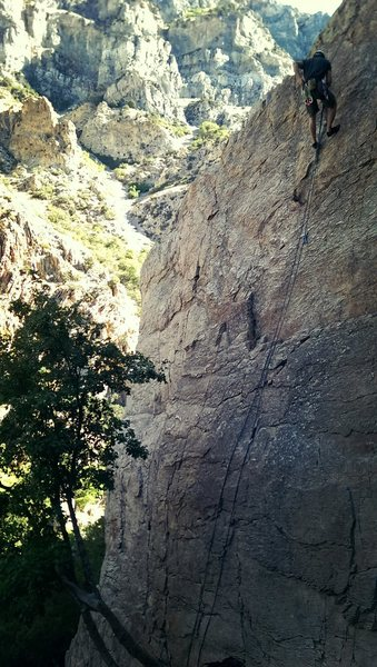 Rock Climbing Photo: Pretty sure this is the 4th route/ far right. Take...