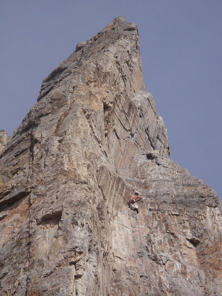 First pitch on the 3rd ascent.