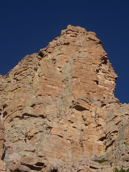 Rock Climbing Photo: The start of Aces High. The route takes the obviou...