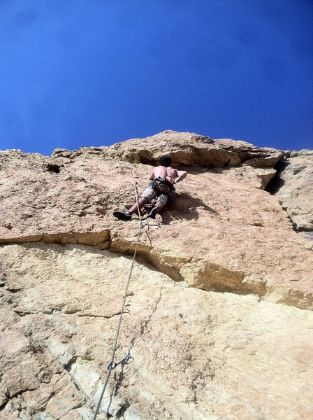 Rock Climbing Photo: Matt onsighting Adventure dog