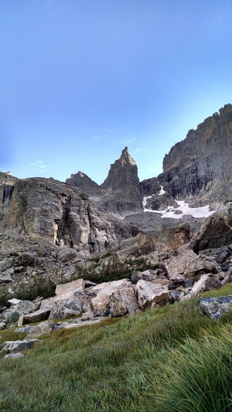 Approaching Sharkstooth.