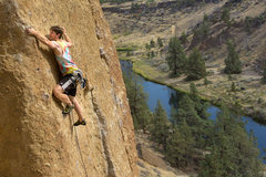 Rock Climbing Photo: Dan working his way up Captain Xenolith
