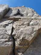 Rock Climbing Photo: My good friend Keith stealing the lead on pitch No...