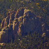 Long Range shot of the main formation at Sentinel and Specimen Rock.