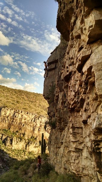 Rock Climbing Photo: The harder finish to the route (vs using the crack...