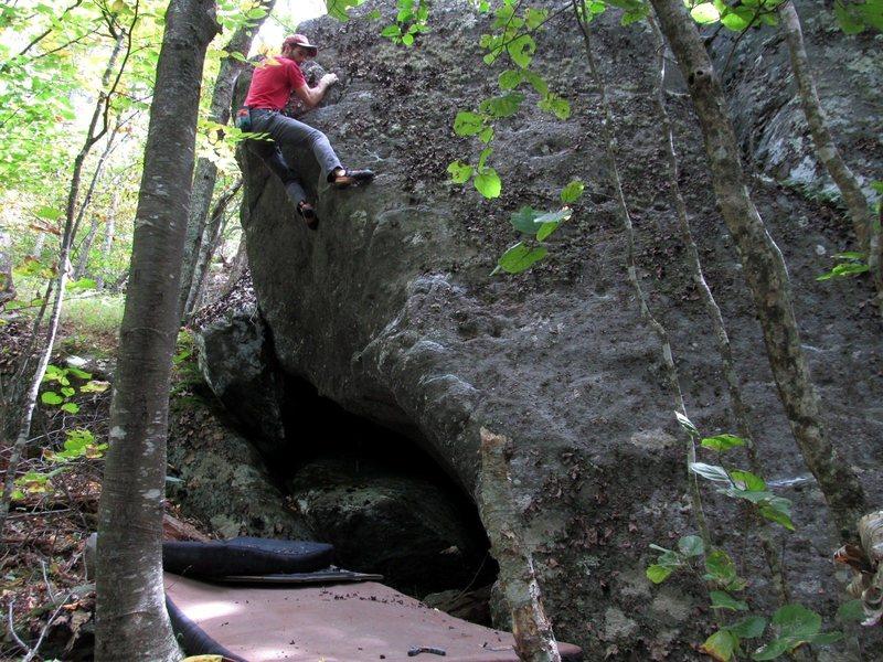 Rock Climbing Photo: Fungi Boulder (on Amanita Arete)