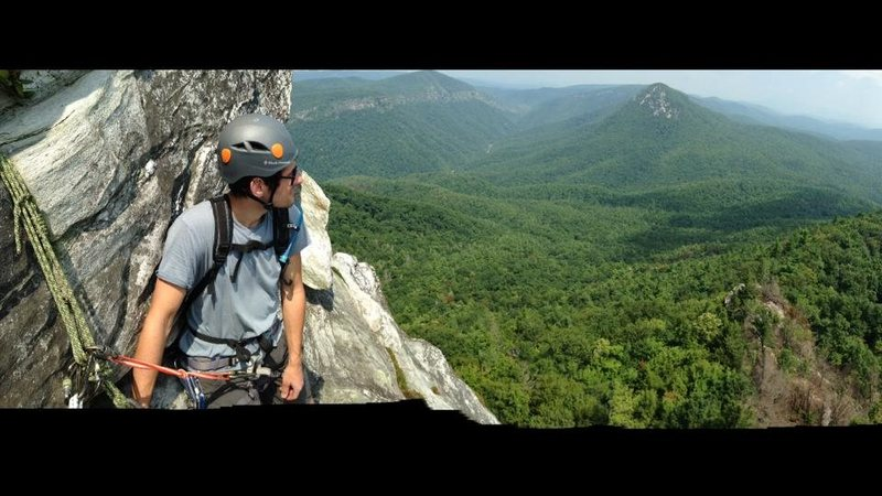 View from North Ridge top of P1, Table Rock, NC