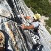 scott muir on bear's reach, lover's leap. best 5.7 in tahoe!