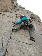 Rock Climbing Photo: Zac on the FA