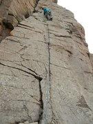 Rock Climbing Photo: Making the transition