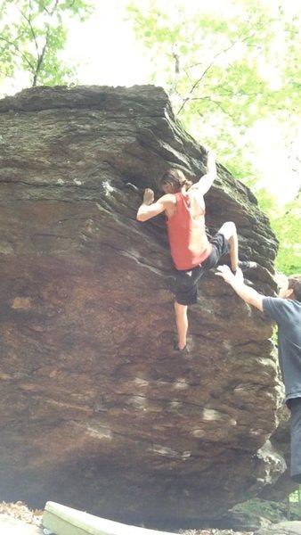 Rock Climbing Photo: The topout