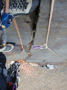 Rock Climbing Photo: Starting up the route solo belay