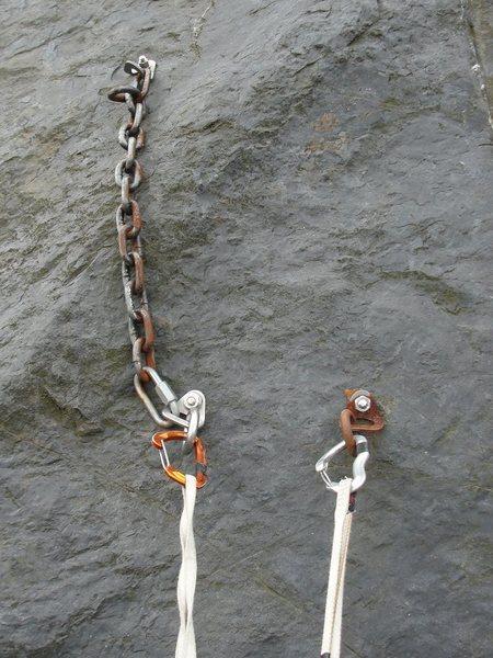 Rock Climbing Photo: Anchors away