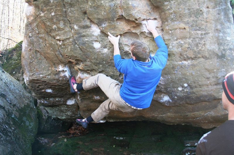 Jim on the opening moves of All for V4 (V4).