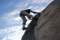 Rock Climbing Photo: Nicholas Rondilone Topping out
