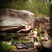 Rock Climbing Photo: Riverside V4.