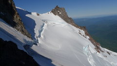 Rock Climbing Photo: Jeff Park Glacier Bergshrund 1 July 2014