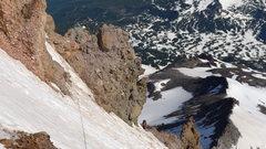 Rock Climbing Photo: High on the North Ridge traversing under the ridge...
