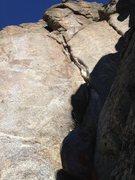 Rock Climbing Photo: The crack.