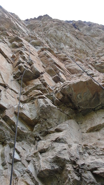 Rock Climbing Photo: Looking up at Automatic Leg Spreader.