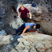 Rock Climbing Photo: Marco on Unnamed Problem A