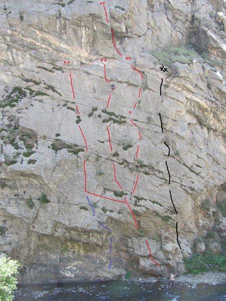 Rock Climbing Photo: Beach Front is black line.