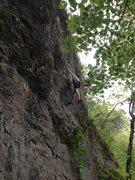 Rock Climbing Photo: Nate pullin down