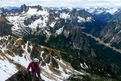 Rock Climbing Photo: JodiLynn following last pitch.