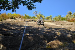 Rock Climbing Photo: Upper face of Clamdigger Crack...it's hard trying ...