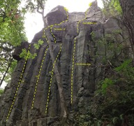 Rock Climbing Photo: Right side of Hanging Gardens