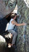 Rock Climbing Photo: Kevin transitioning into Uholy Hole.