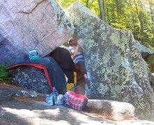 Rock Climbing Photo: Erik giving it a go.