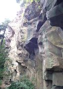 Rock Climbing Photo: Jungle Cliff. A big, and impressive cliff. Doesn't...