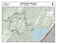 Rock Climbing Photo: A map of the Murrin Park loop trail, showing the l...