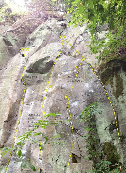 Right side of Spring Rock