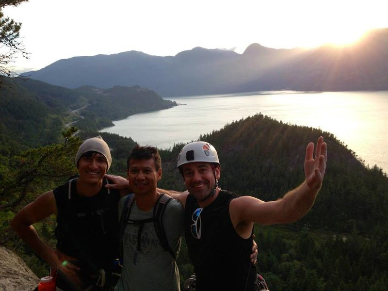 Rock Climbing Photo: On top of Skywalker, Squamish
