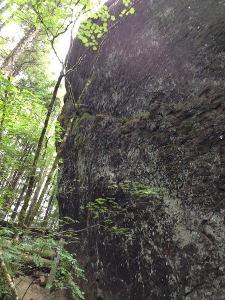 Middle of the ledge traverse