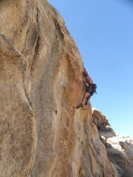 Jeremy Schoenborn on the first lead of Big Todd