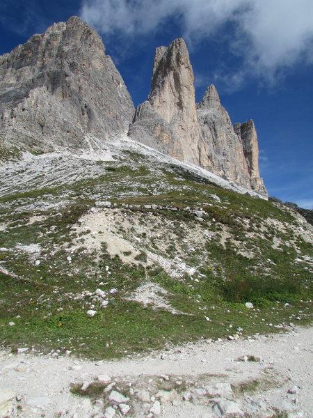 Cima Piccola di Laverado from the Laverado hut area.