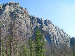 Rock Climbing Photo: Long chimney to shoulder and then ridge scramble t...