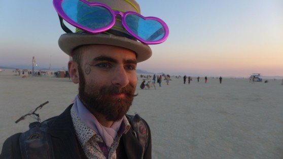 Rock Climbing Photo: Dawn at Burning Man