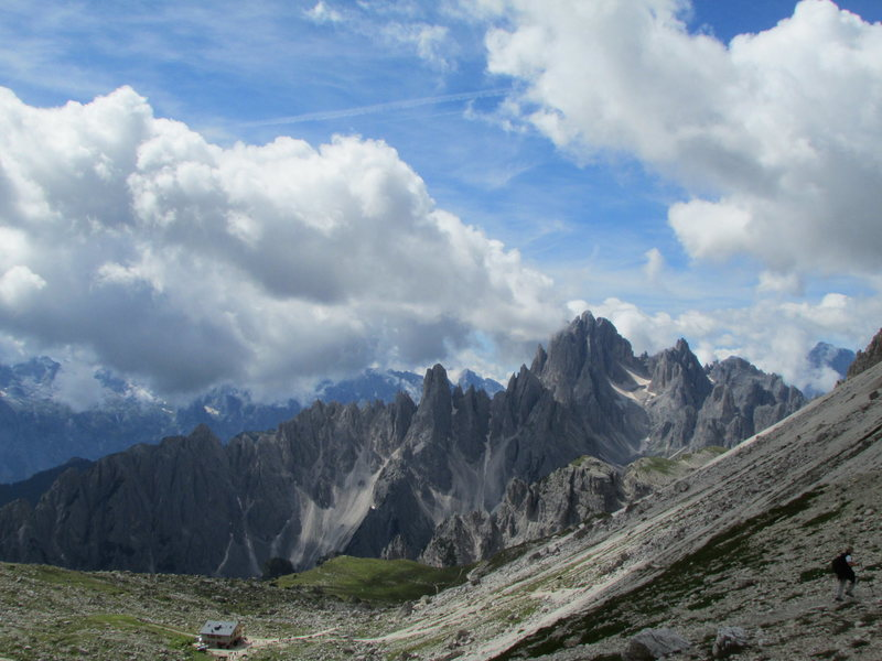 View looking West from Forcella di Laverado.