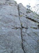 Rock Climbing Photo: First pitch of Chipmunk Stampede. 5.6 160+ft to th...