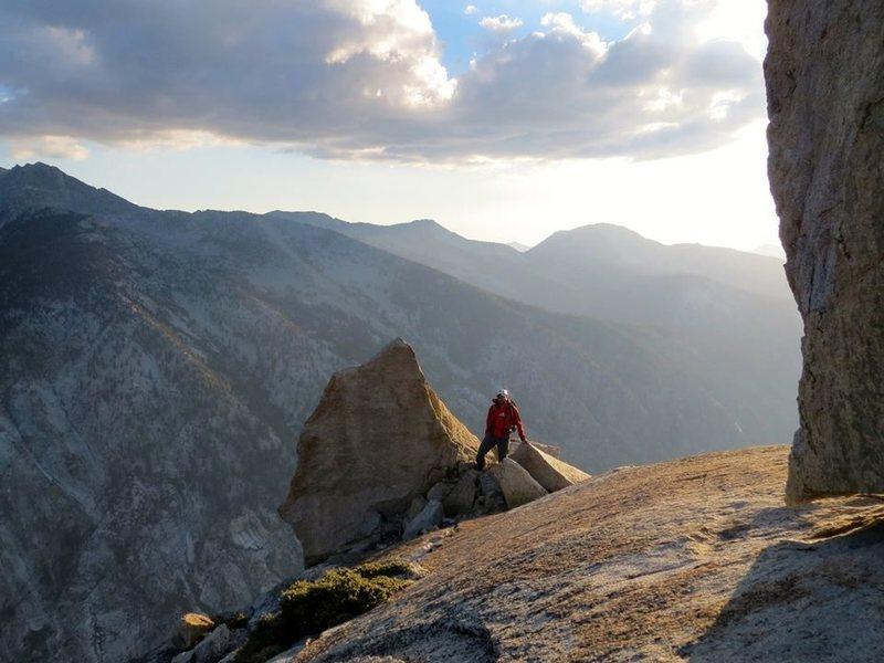 Rock Climbing Photo: late afternoon on the summit ridge